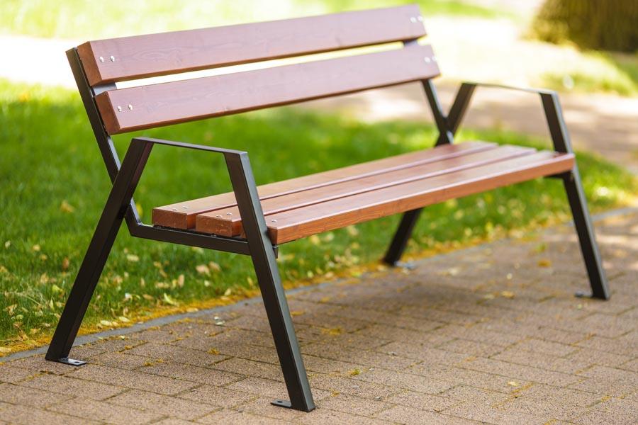 ławka stalowa